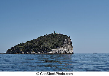 island of tino near la spezia in italy