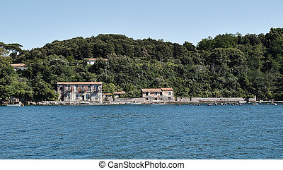 palmaria island in front of portovenere in the gulf of la...