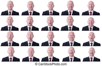 businessman expressions - XXL high resolution image of a...