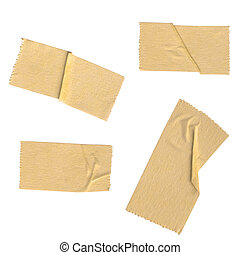 Various scotch tape with clipping path, set one ( There is...