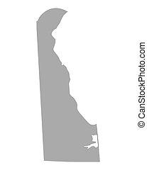 Map of Delaware