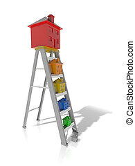Property ladder - Concept of moving up the property ladder