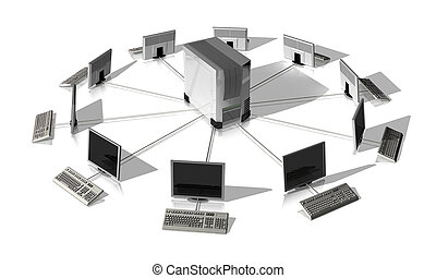network server - It network around a server isolated on...