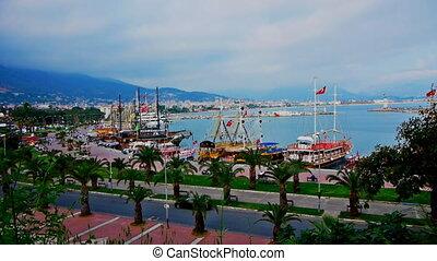 Panoramic view to Alanya, Turkey