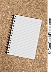 Spiral Notepad over a cor