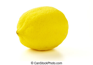 Lemon on the white background with clipping path