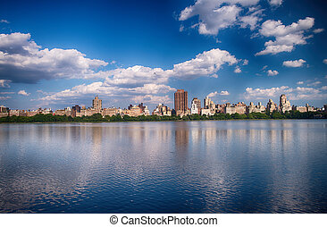 New York City - Panoramic view of modern buildings from...