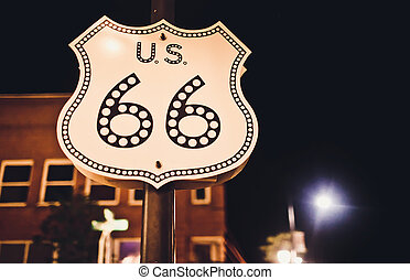 Route 66 sign in United States