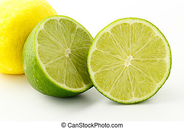 Lime on the white background with clipping path
