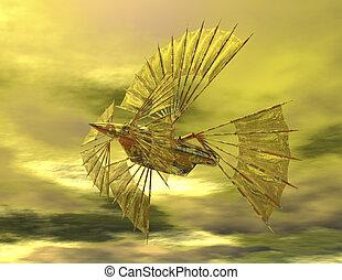 airship - digital rendering of an airship