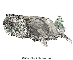in god we trust - digital visualization of the usa with...
