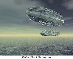 airship - digital visualization of an airship
