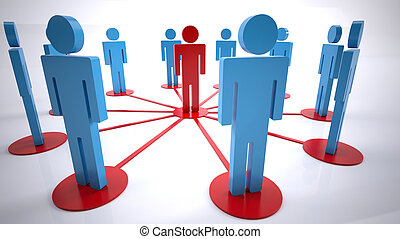 network people - Concept of conections between a group of...