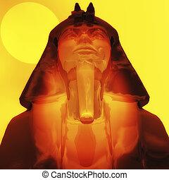 Tut ench amun - Digital Illustration of Tut Ench Amun