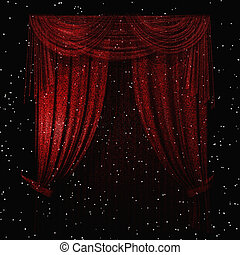 Curtain - Digital Illustration of a Curtain