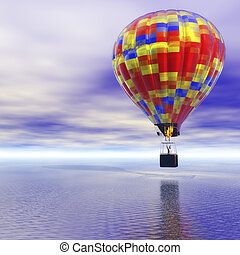 Hot Air Balloon - Digital Illustration of a Hot Air Balloon