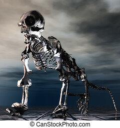 Oso hormiguero, Esqueleto