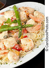 Shrimp Scampi with Pasta - Italian style shrimp scampi pasta...