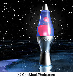 Lava Lamp - Digital Illustration of a Lava Lamp