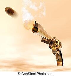 Revolver - Digital Illustration of a Revolver