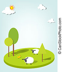 sheeps on the field