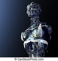 Cyborg - Digital Illustration of a Cyborg