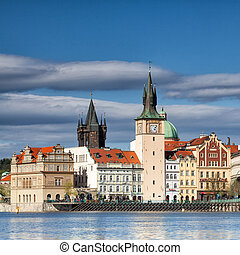 Famous place near the Vltava river - Famous towers near the...