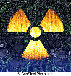Radioactivity - Digital Illustration of a Radioactivity Sign