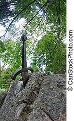 legendary and famous sword Excalibur to King stuck between...
