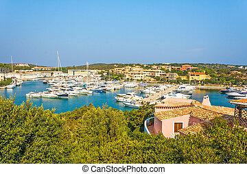 Harbor Porto Cervo, Sardinia - Harbor in Porto Cervo,...