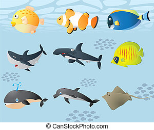 Vector cute sealife
