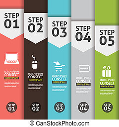 Banner Infographics Vector Background Number Options Banner,...