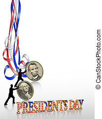 Presidents Day Border graphic - Illustration composition for...