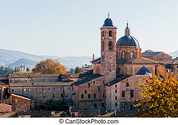 Cathedral of Urbino - Wiew of the Cathedral of Urbino, in...