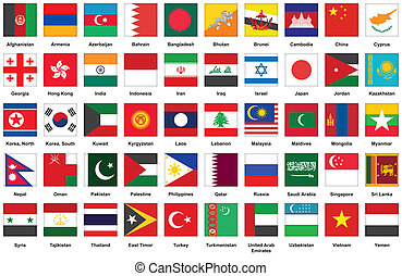 icons with Asian flags