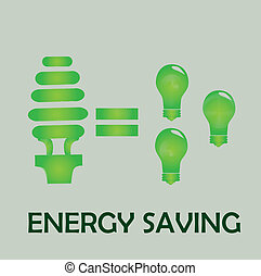 energy saving over gray background vector illustration