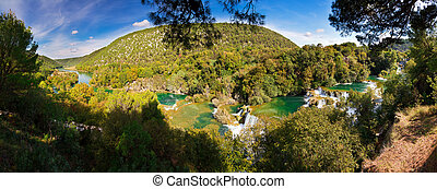 Krka Panorama - Beautiful 180 degree panorama at Krka...