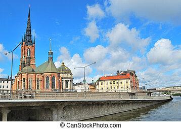 Stockholm Island Riddarholmen quay - Stockholm Sweden...
