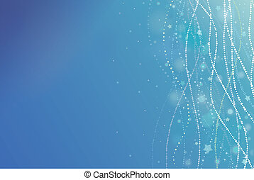 Magical underwater bubbles horizontal background - Vector...