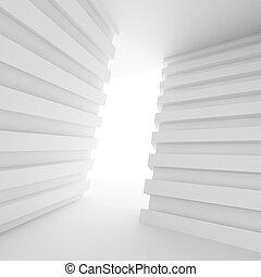 Doorway Background - 3d White Abstract Doorway Background