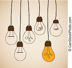 bulbs design over vintage background vector illustration