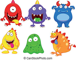 Monster cartoon collection - Vector illustration of Monster...