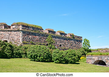 Wall of Suomenlinna fortress, Finland