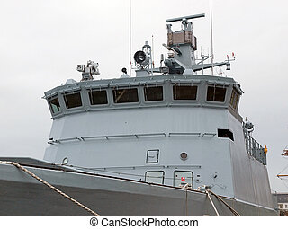 Navy Frigate Warship - Close details of a Navy Frigate...