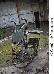 Stranded Wheelchair - A rather mournful image of a broken...