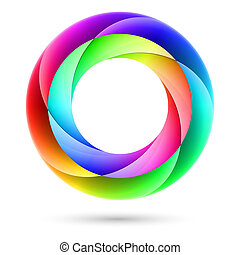 Colorful spiral ring Illustration on white background