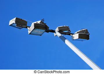 Stadium Lamps - Stadium lamps over the sky. Lights for...