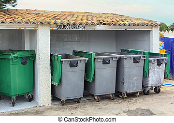 Group of saved waste bins