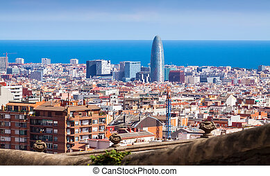 Barcelona from Park Guell. Spain