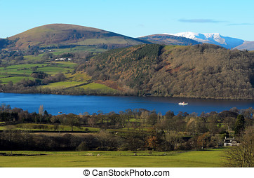 Ullswater Steamer - Ullswater steamer travelling towards...